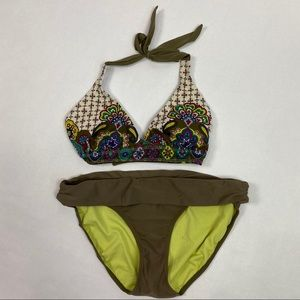 Athleta Bikini Paisley Floral size Medium
